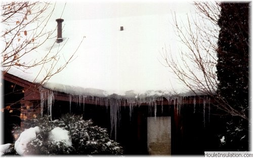 Ice Dams Are Formed When Attic Bypasses Leak Heated Air