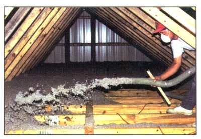 Attic Insulation & Attic Insulation and Ceiling Insulation using cellulose insulation ...
