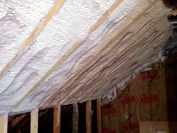 Cathedral Roofs Vaulted Ceilings After Completed By Houle Insulation